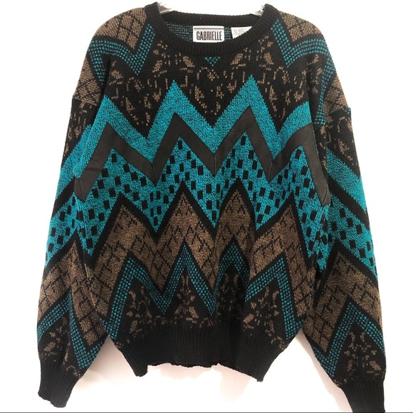 Gabrielle Other - Men's Vintage 80s Long Sleeve Sweater Size Medium